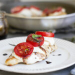 Chicken Caprese on a plate